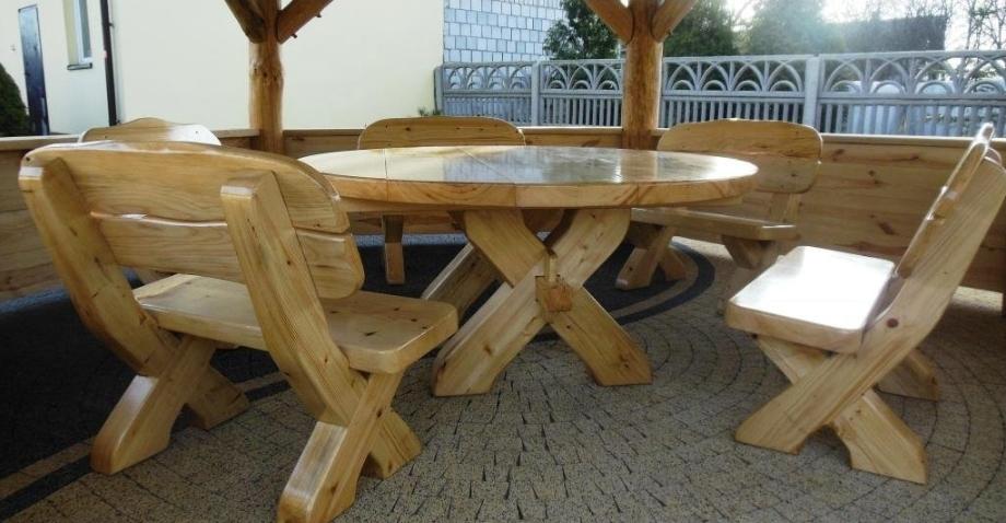 Terrassenmöbel rund Holz günstig