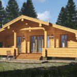 Ferienhaus aus Blockstamm Holz