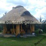 Pavillon mit Reetdach günstig aus Polen
