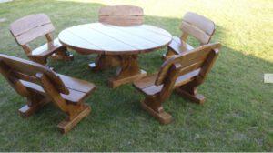 Terrassen Möbel rund Rustikal aus Polen günstig