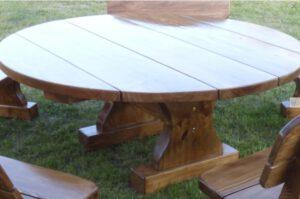 Terrassenmöbel Runder Tisch Rustikal-2