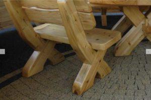 Terrassen Möbel Set Rustikal Holz aus Polen günstig