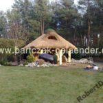 Pavillon mit Reetdach aus Polen günstig