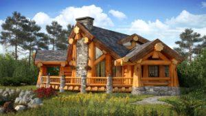Naturstammhaus, Blockstammhaus aus Polen